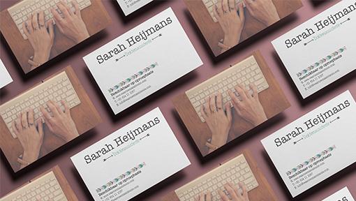 Visitekaartjes Sarah Heijmans Waarneemassistente - Dots and Lines