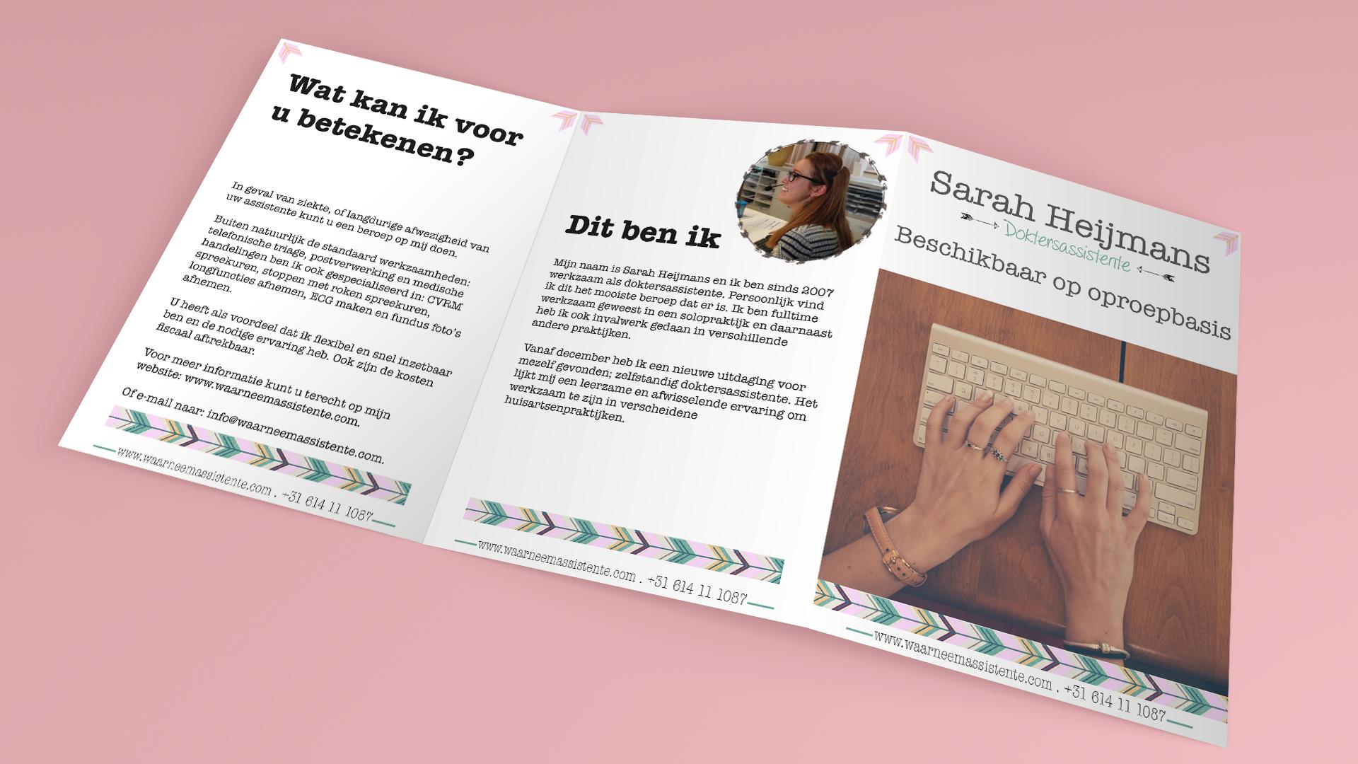 Waarneemassistente - brochure ontwerp - Dots and Lines Grafisch vormgeefster Tilburg