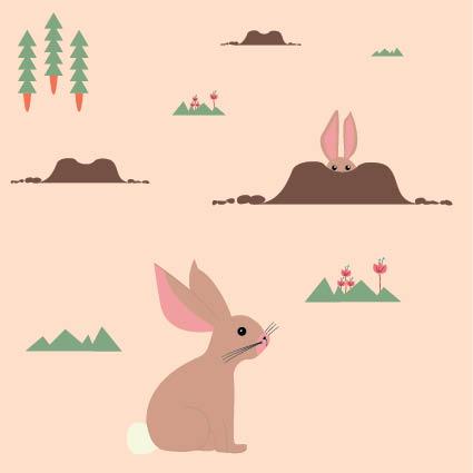 Boek ontwerp - Dots & Lines - Illustratie het konijn - grafische vormgeving
