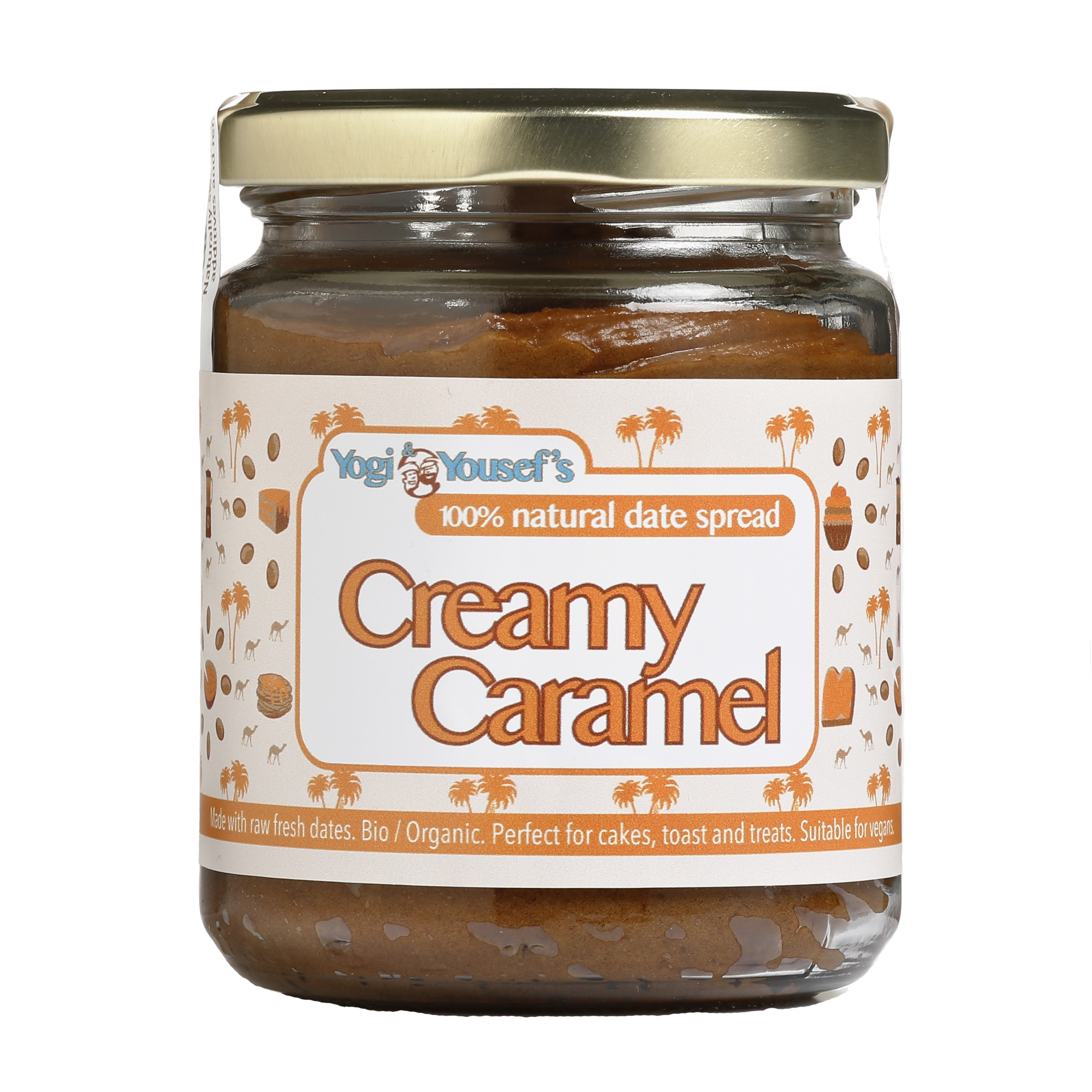 Dadelspread Creamy Caramel - Yogi & Yousef - product ontwerp - Dots & Lines