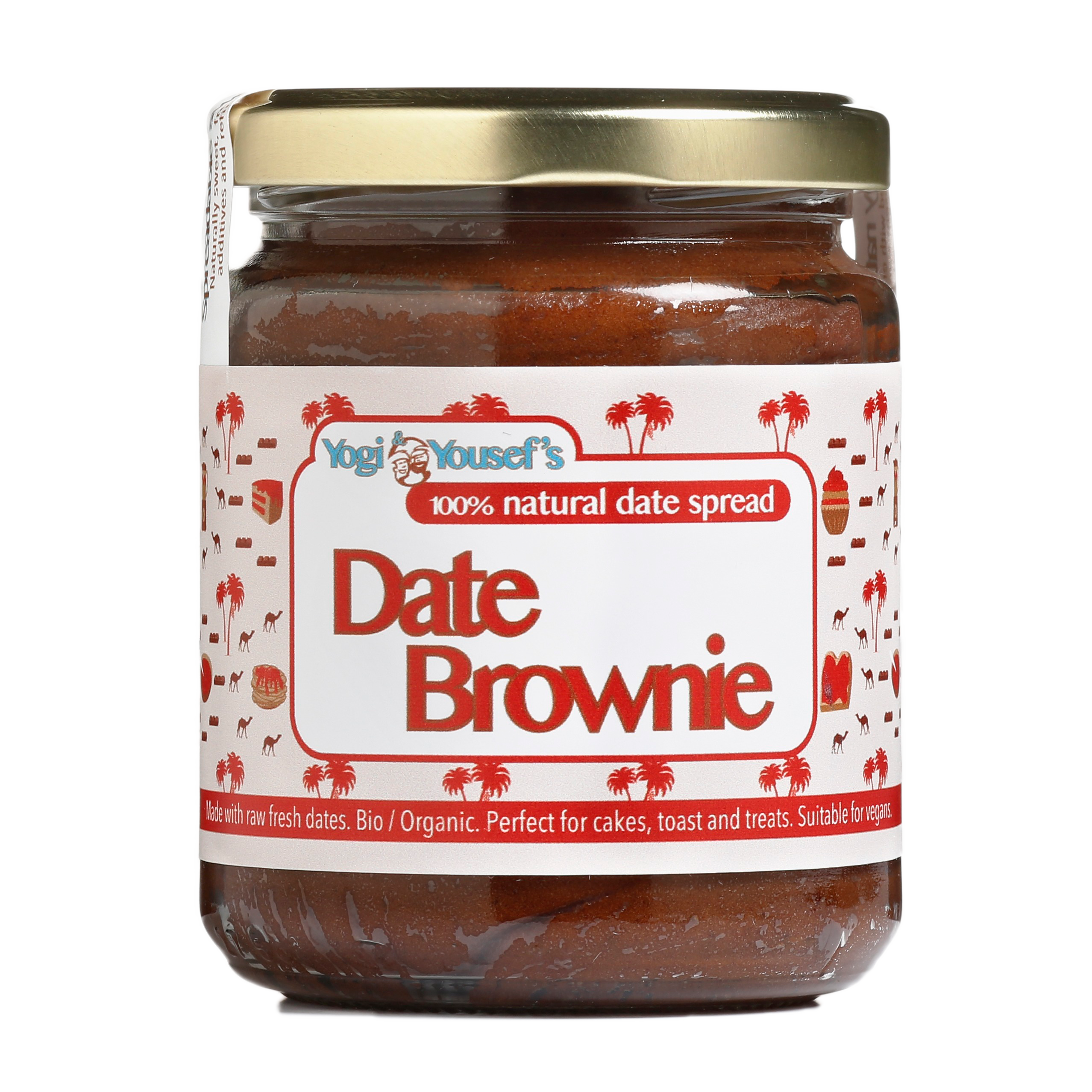 Dadelspread Date Brownie - Yogi & Yousef - product ontwerp - Dots & Lines