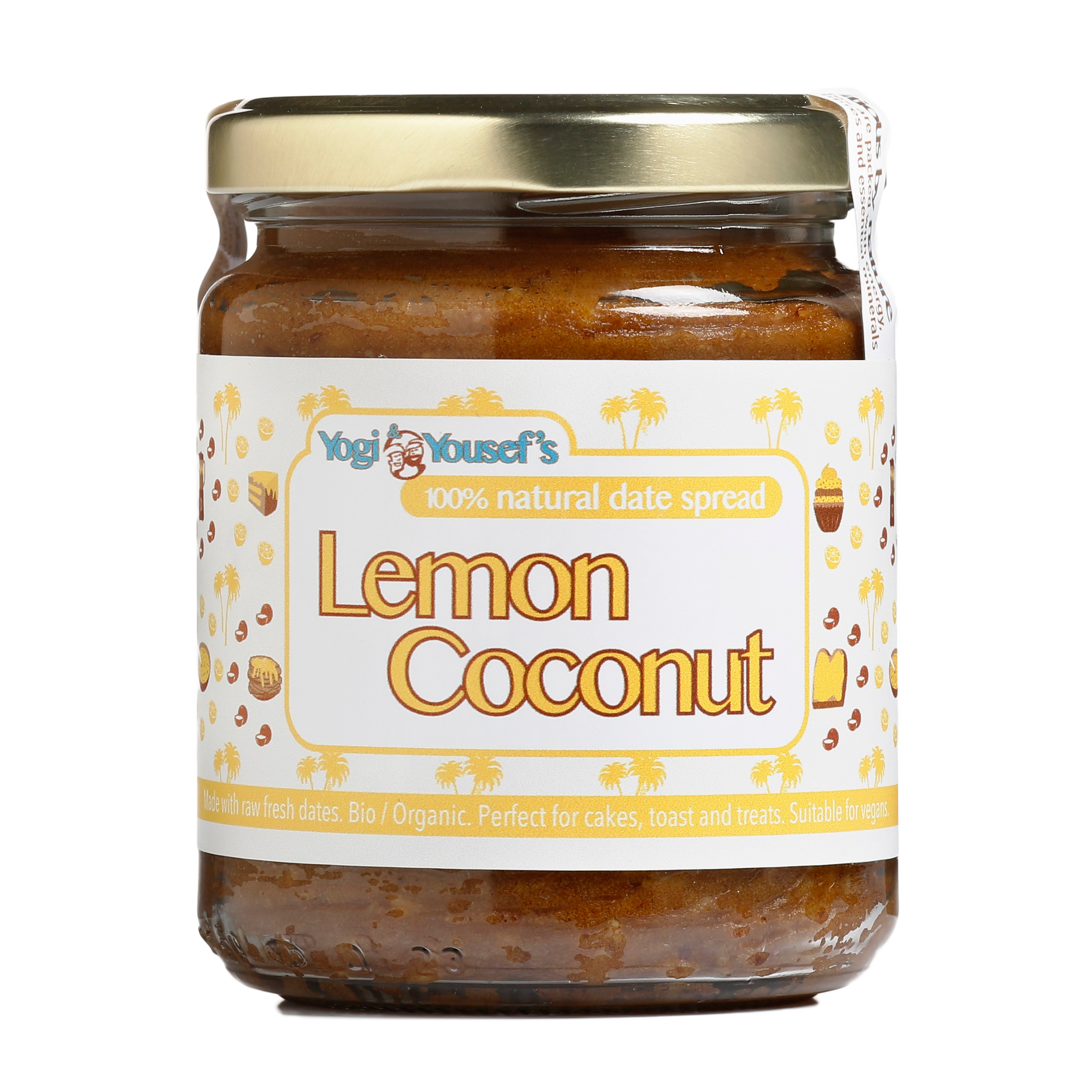 Dadelspread Lemon Coconut - Yogi & Yousef - product ontwerp - Dots & Lines