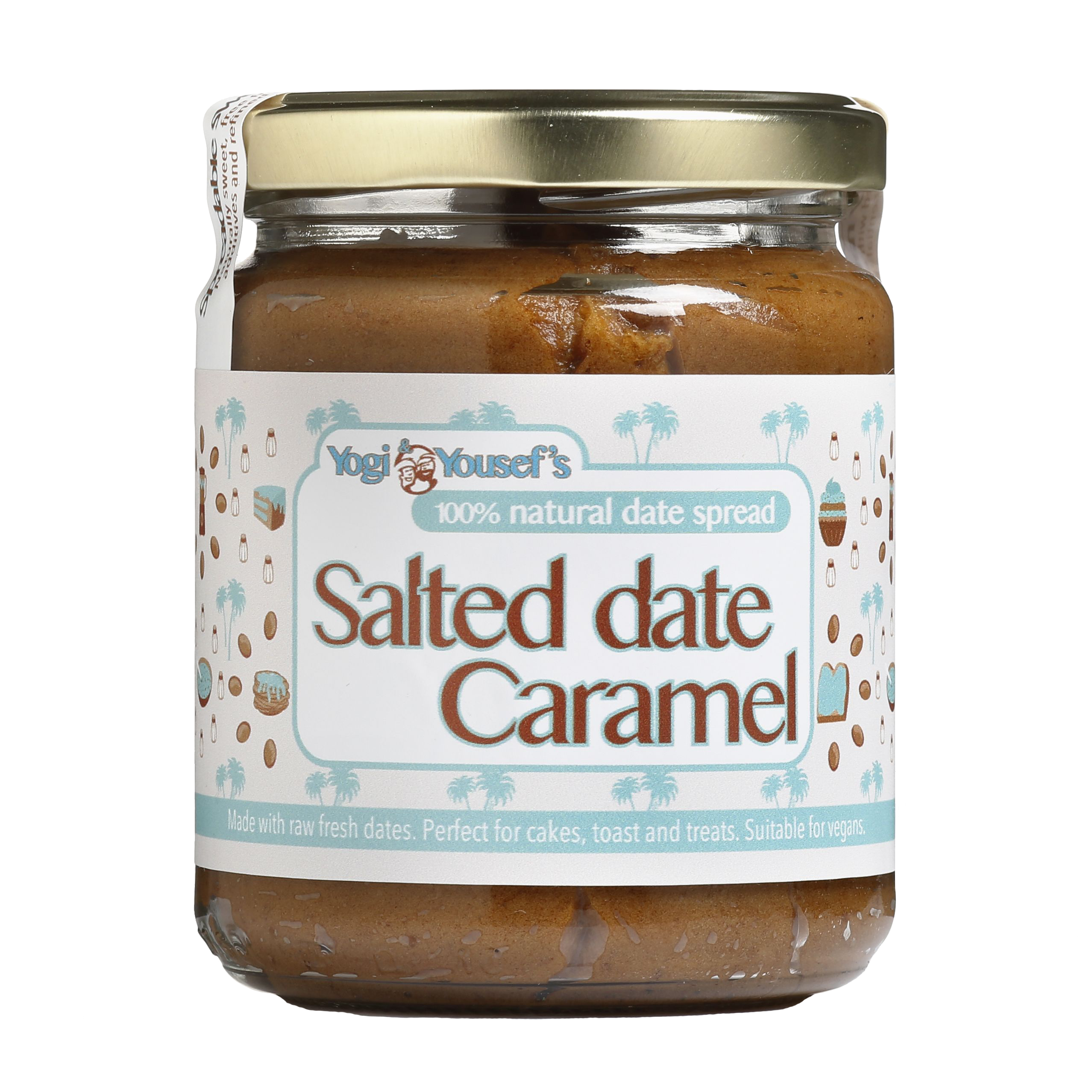 Dadelspread Salted date Caramel - Yogi & Yousef - product ontwerp - Dots & Lines