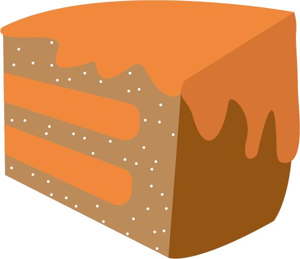 Cake - vector - etiket ontwerp - grafisch ontwerp - Dots & Lines