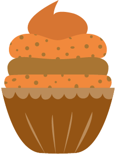 Cupcake - icon ontwerp - vector - Dots & Lines