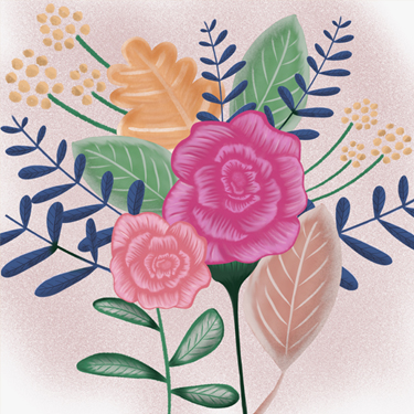 Bloemen illustratie - Illustrator Tilburg