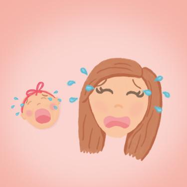 Illustratie mama met baby - Illustrator Tilburg - Dots & Lines