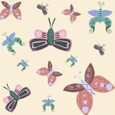Illustratie vlinders - Illustrator Tilburg