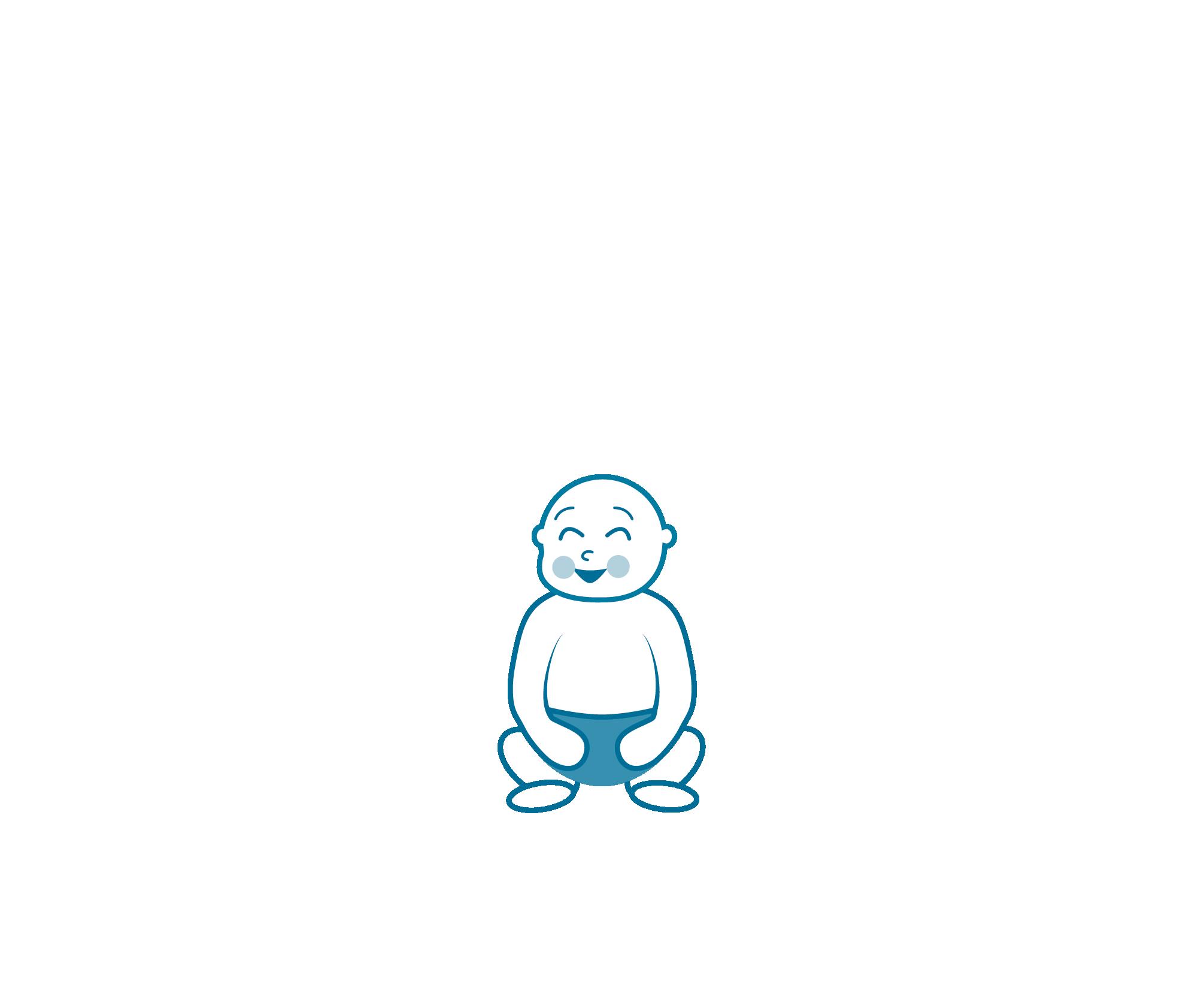 Little Guru Yoga  - logo ontwerp - enkel kind - Dots & Lines