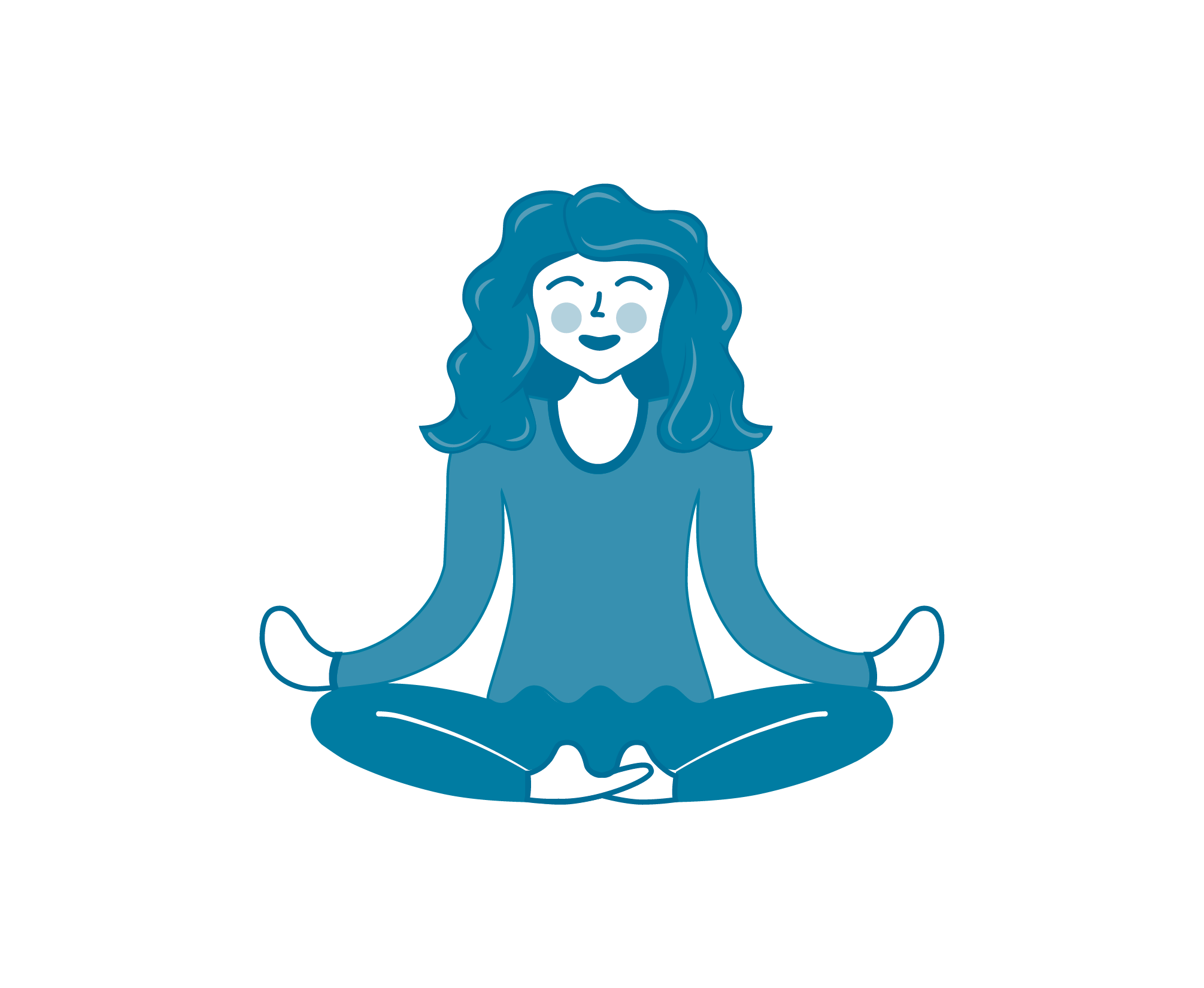 Little Guru Yoga  - logo ontwerp - enkel moeder - Dots & Lines