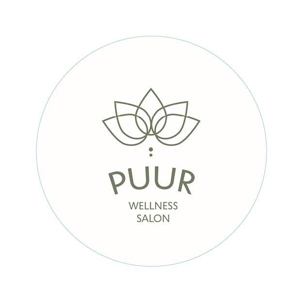 Logo ontwerp - schoonheidssalon PUUR- Dots & Lines - Grafisch ontwerp