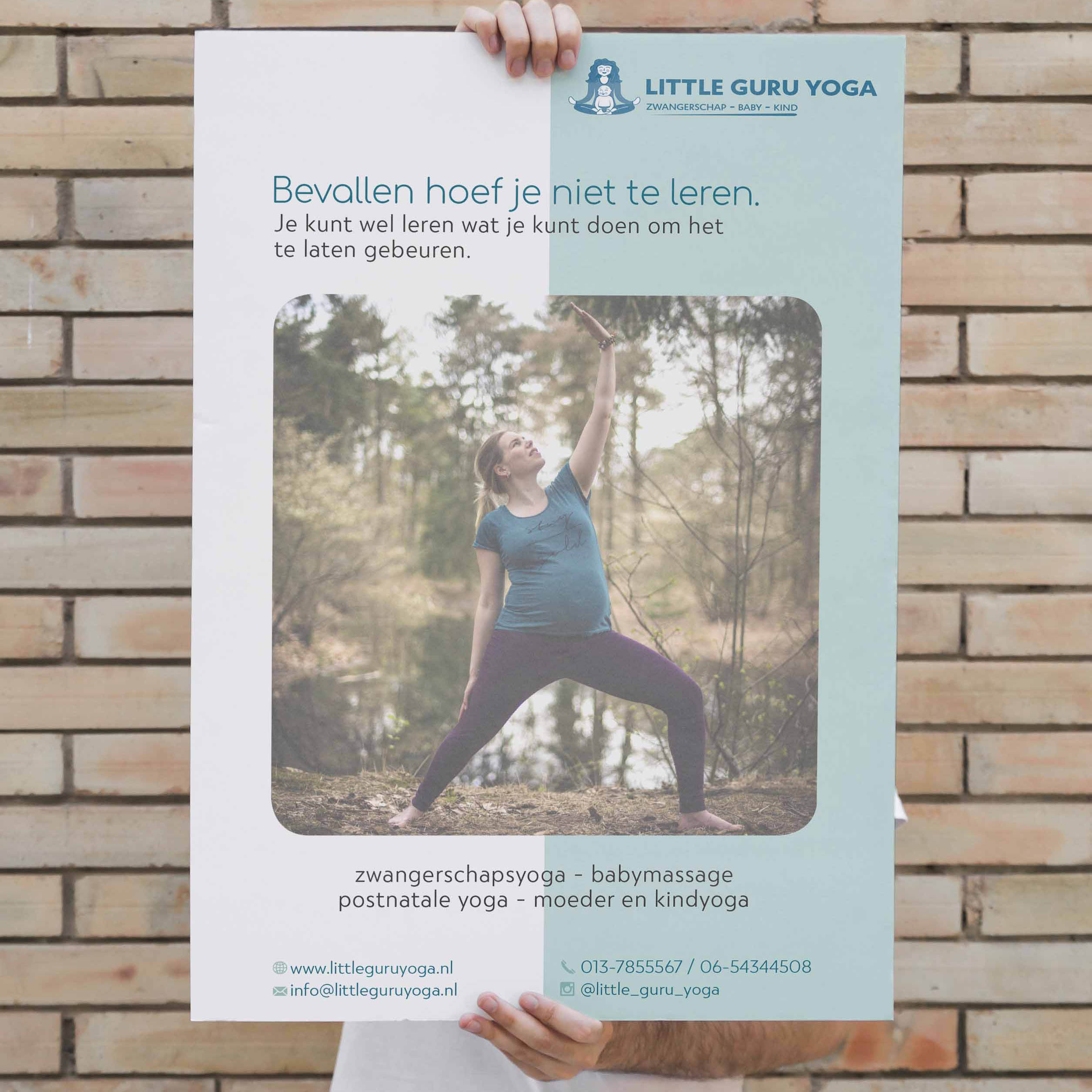 Poster ontwerp - Little Guru Yoga Studio - Dots & Lines
