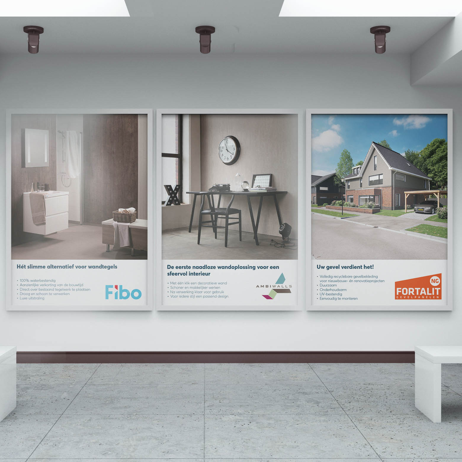 Poster ontwerp - RET bouwproducten - Grafisch ontwerp - Dots & Lines