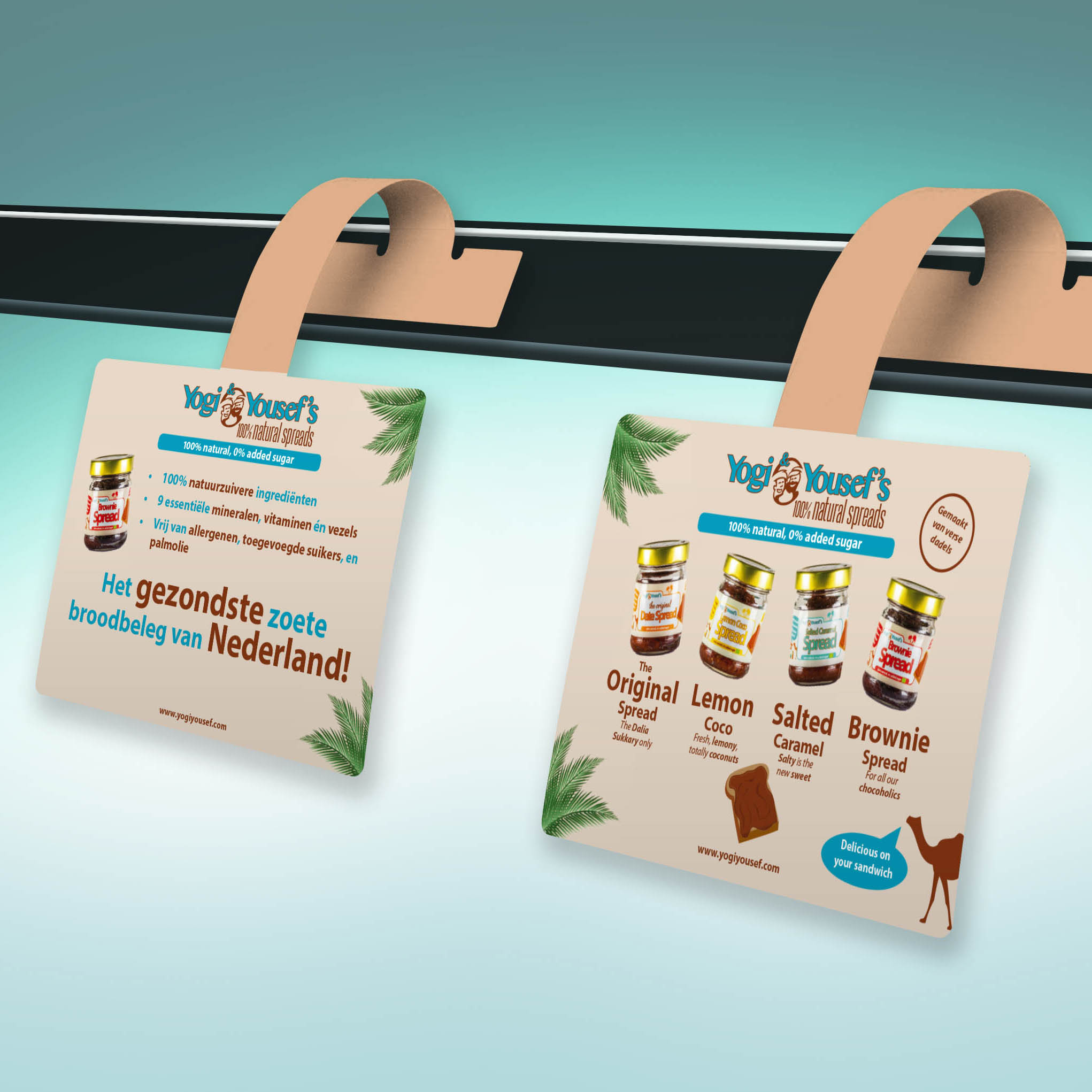 Ontwerp schapkaarten - retail promotiemateriaal - grafisch ontwerp Dots & Lines