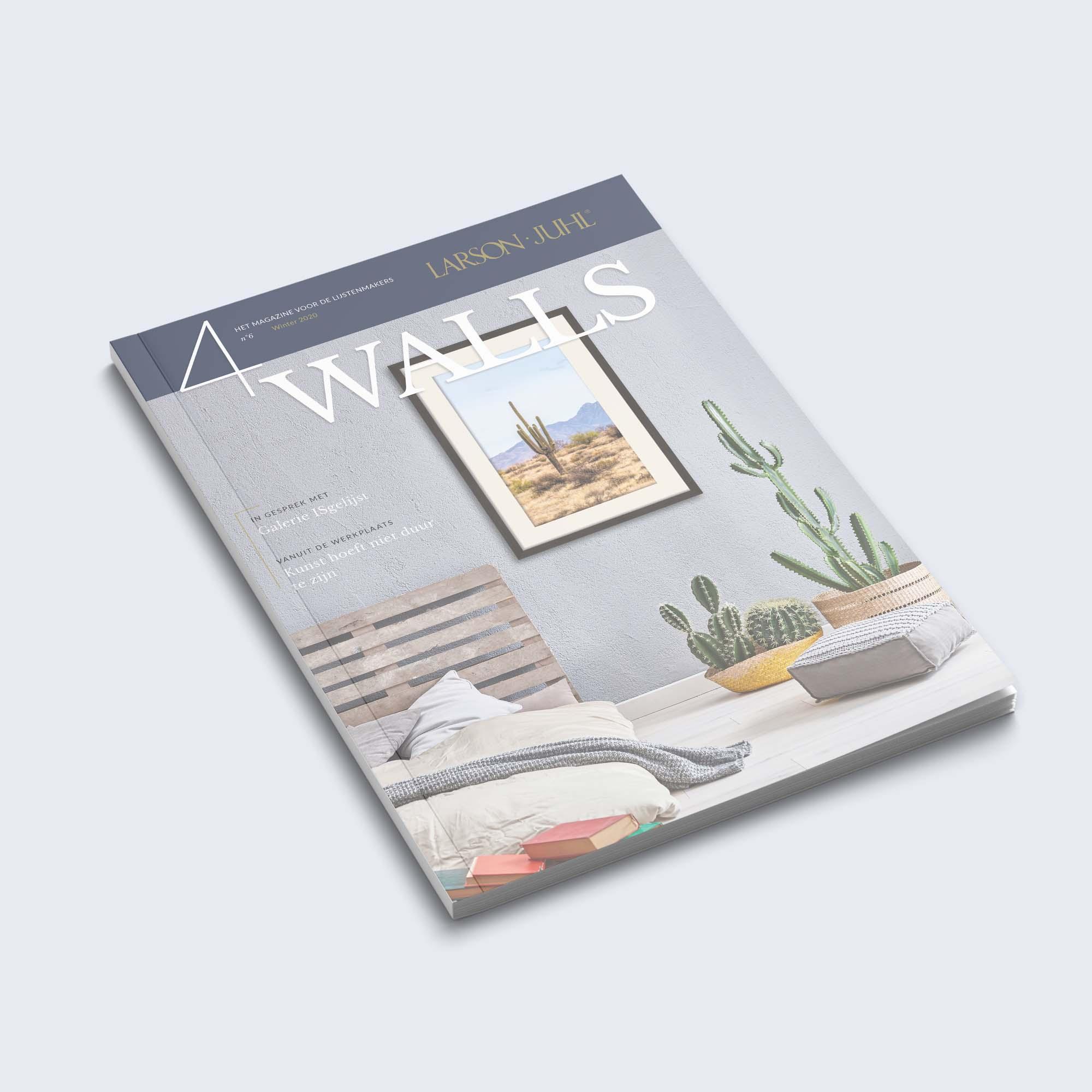 Magazine vormgeving - 4Walls - Dots & Lines - grafische vormgeving Tilburg