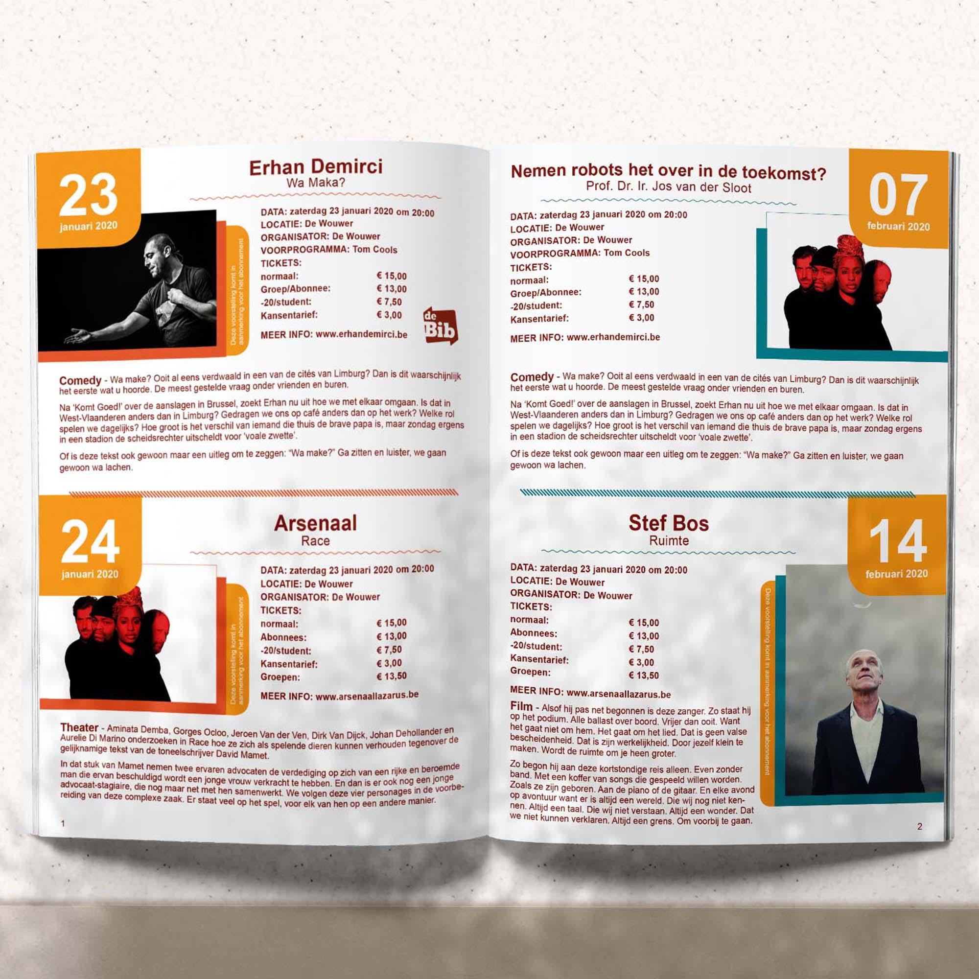 Ontwerp programmaboekje - grafische vormgeving Tilburg - Dots & Lines